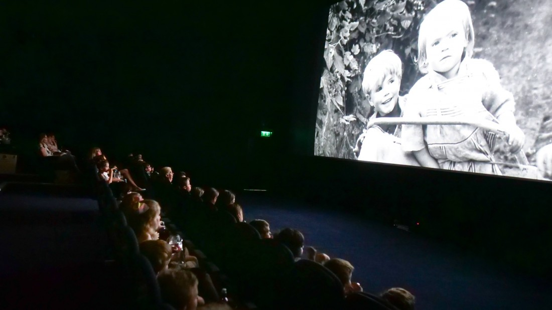 Pupils watching their film at the Odeon