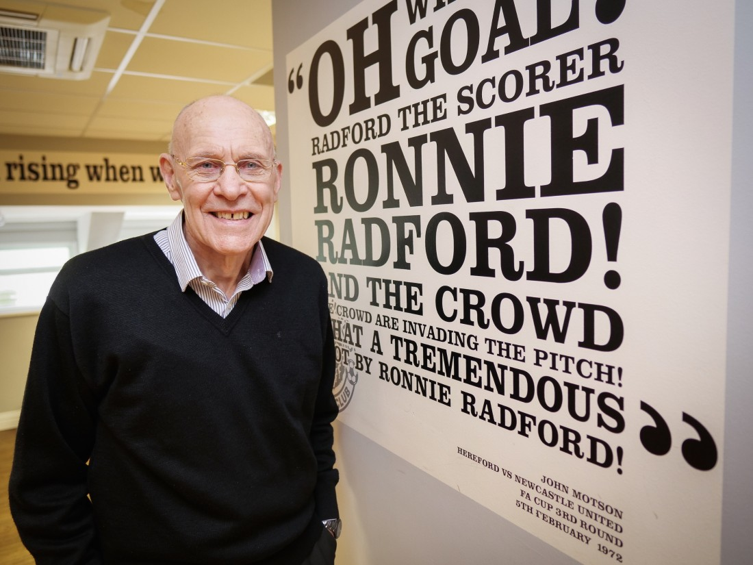 Ronnie Radford returns to the site of his 1972 moment of glory - photographed by project photographer Emma Drabble