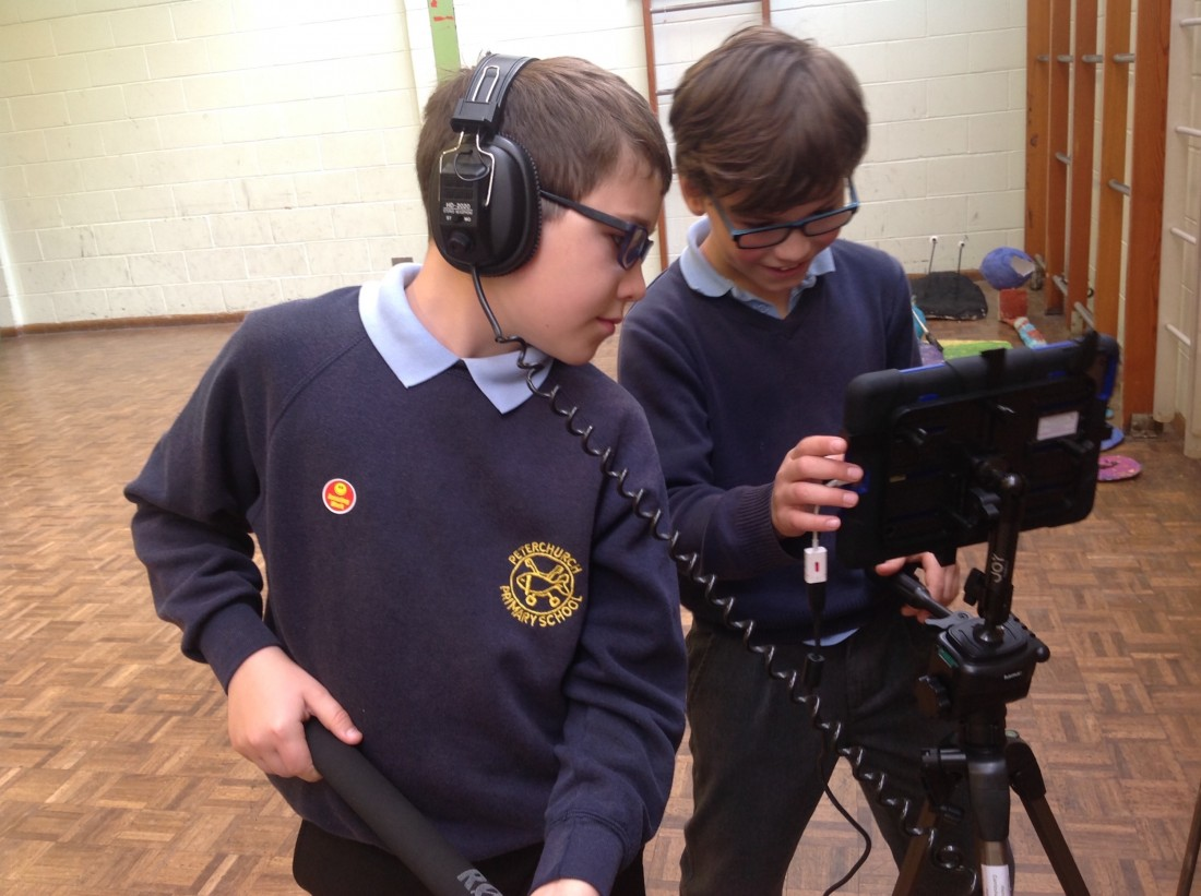 Pupils take part in film-making training
