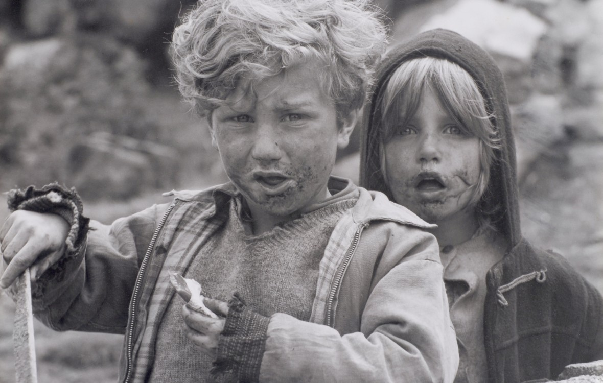 Welsh Children with dirty faces