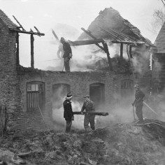 Fire at Reed Farm, Bishops Frome 10 February 1966