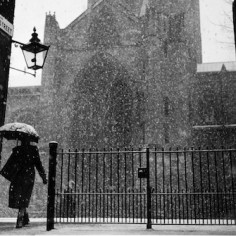Snowy Weather at the Cathedral