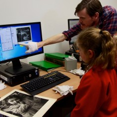 Pupils digitise Derek Evans negatives at archives